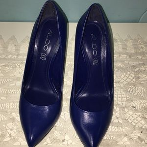 Aldo Navy Blue Stiletto Heel Shoes